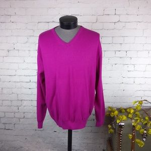 NWT Alan Flusser cotton silk cashmere sweater